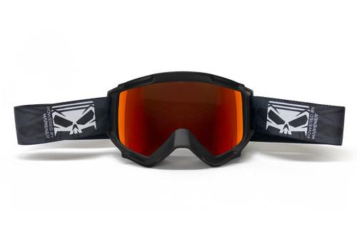 SMC Goggle Black - Red Lava Lens