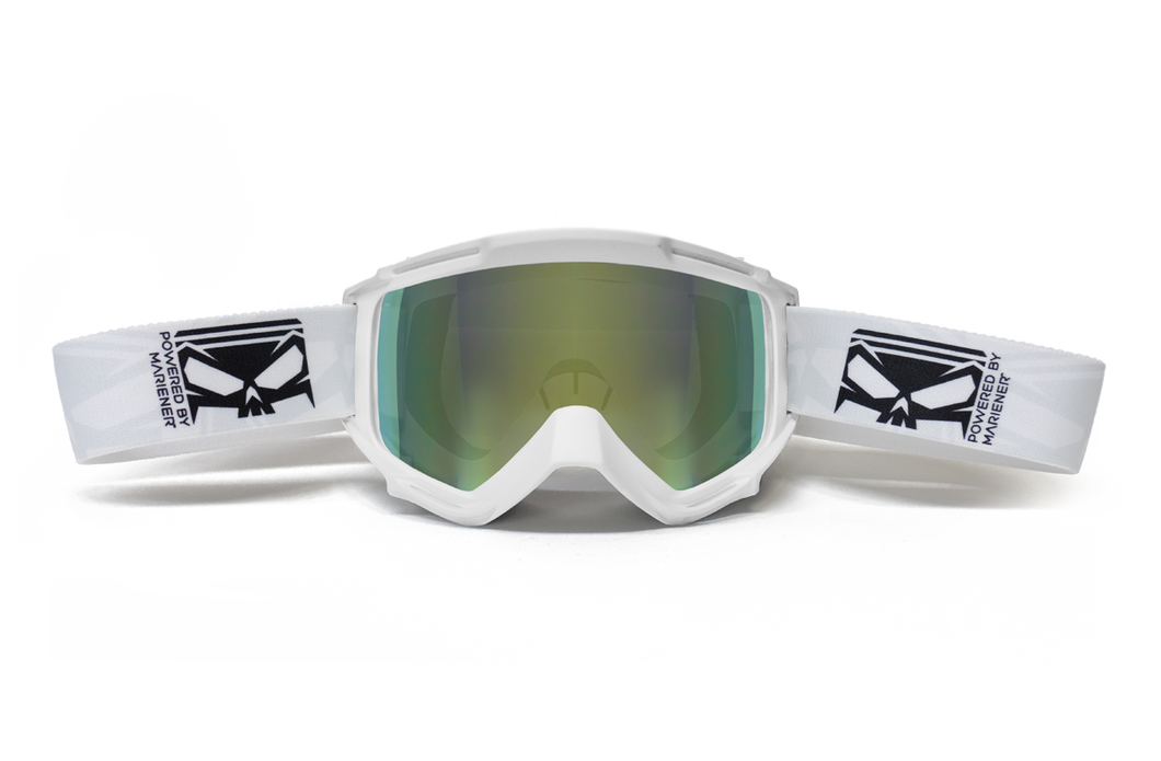 Mariener Moto SMC Goggle White - Yellow Jungle Lens