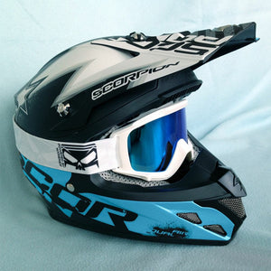 SMC Goggle White - Blue Ice Lens