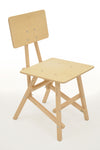 DIT Chair, wooden chair seen from the front. Self assembly, beech and plywood. Design by Tord Boontje.