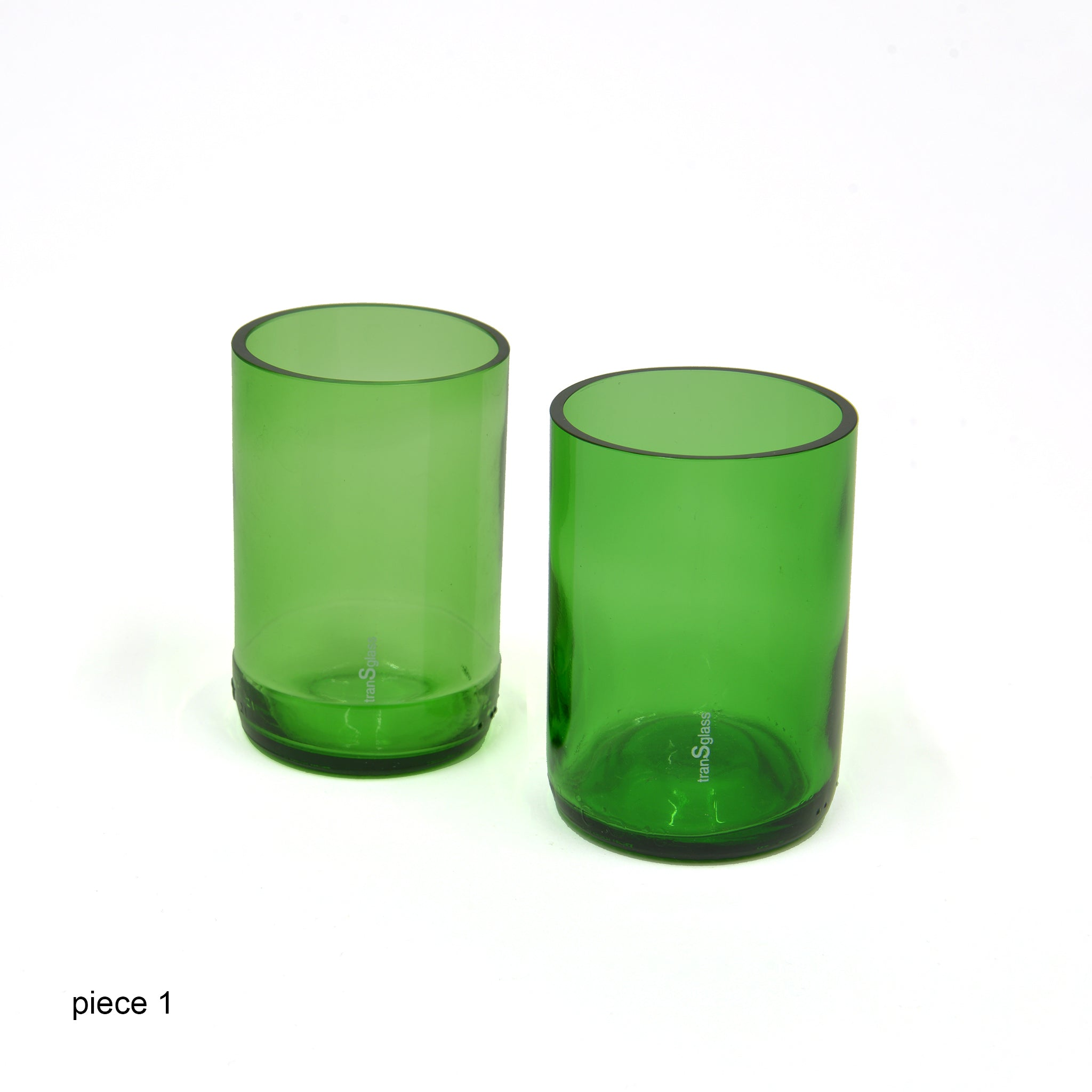Transglass Set of 2 Glasses - green