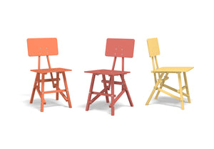 DIT Chair, wooden chair, example image of different colours. Self assembly, beech and plywood. Design by Tord Boontje.