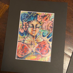 Blessing-matted print