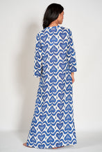 Load image into Gallery viewer, Sapphire Caftan - ikat blue
