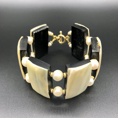Armband - Horn with Pearls Unikat Mojo Uniques