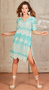 Ibiza Dress Turquoise - Antica Sartoria