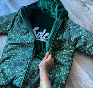 Grove Street Green Velour Reversible Jacket