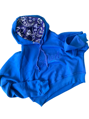 The Blue's Crop Hoodie
