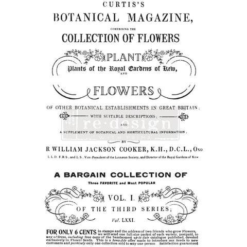 Botanical Magazine transfer by Redesign with Prima