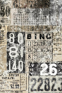 Grunge Numbers decoupage paper by Roycycled Treasures