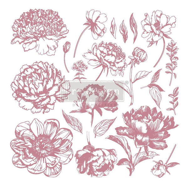 Lineal Floral Decor Stamp