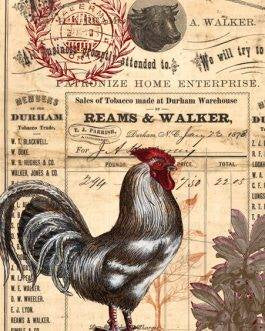 Red Rooster decoupage paper by Roycycled Treasures **PRE-ORDER**