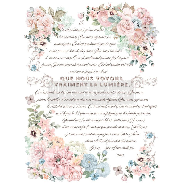 Pure Light Floral transfer by Redesign with Prima