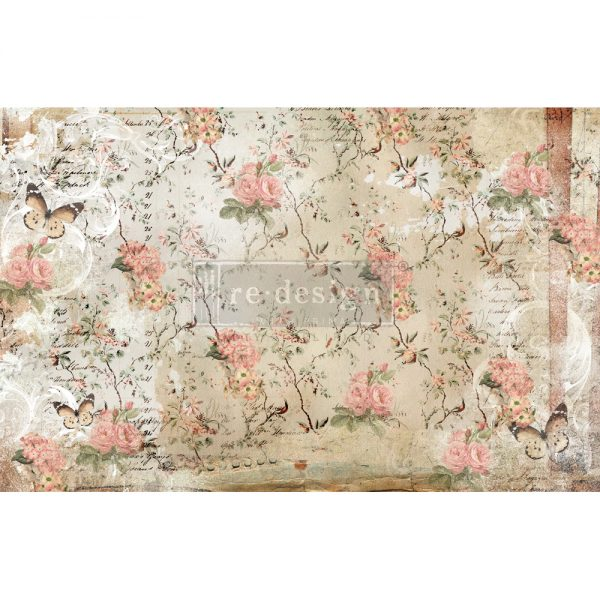 Botanical Imprint Tissue Paper for Decoupage
