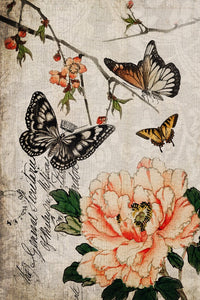 Butterfly Floral paper by Roycycled Treasures