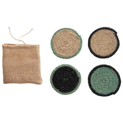 Natural Seagrass Coasters