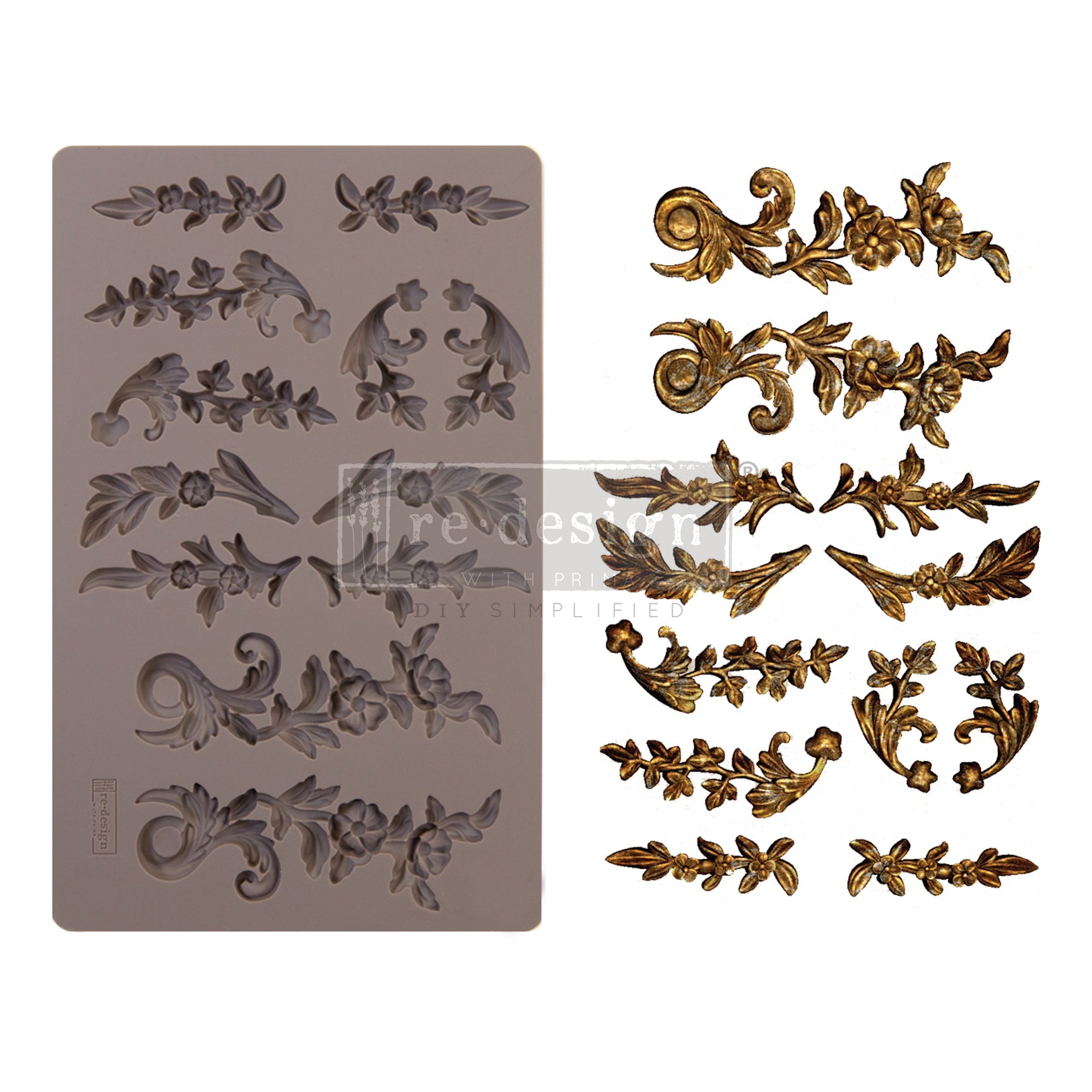 Decor Mould, Delicate Flora