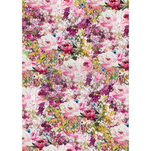 Fuchsia Meadow Rice Paper