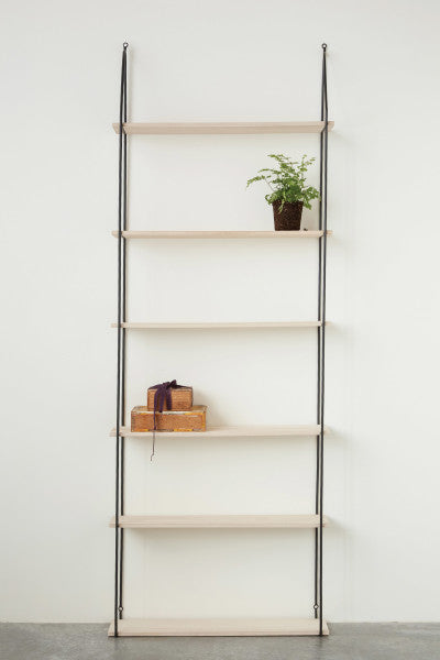 Metal and Wood Wall Shelves
