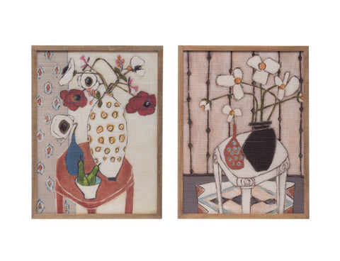 Bamboo Floral Wall Art (Set of 2)
