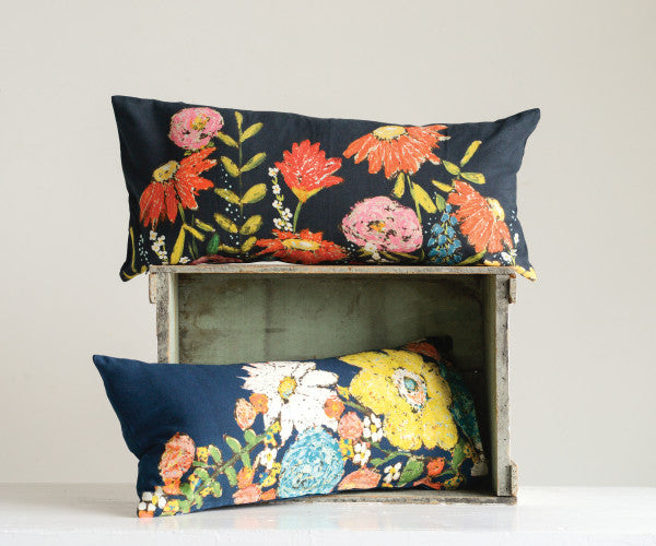 Floral Cotton Pillows (set of 2)