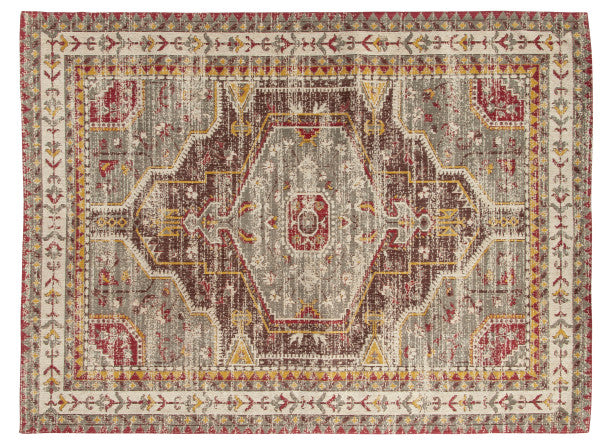 Antique-inspired Cotton Rug