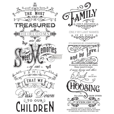 Family Heirlooms Transfer by Redesign with Prima