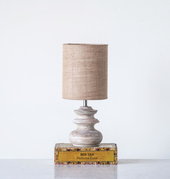 Small Mango Wood Table Lamp