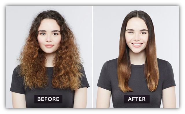 Ceramic-Hair-Straightener-Before-And-After-Use