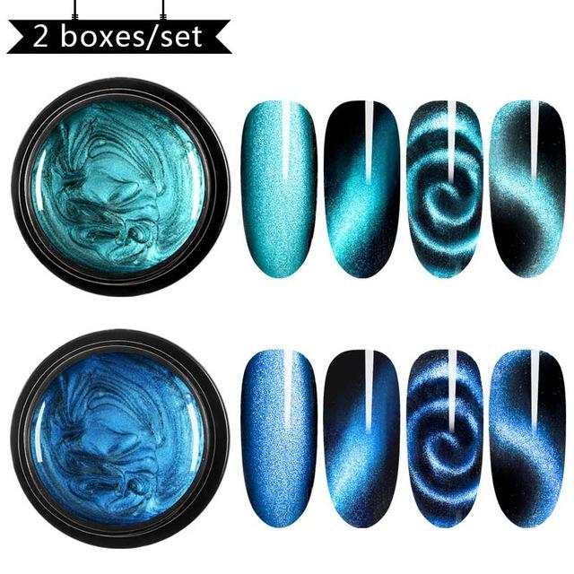 Cat eye nail polish