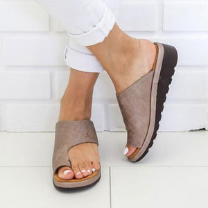 Women Comfy Platform Brown Sandal Shoes