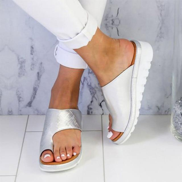 Women Comfy Platform White Sandal Shoes