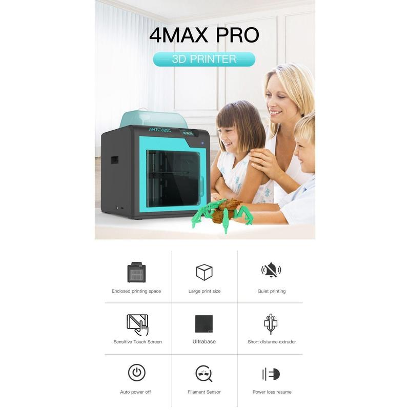 ANYCUBIC 3D Printer 4Max Pro-United States-4MAX Pro-Bennys Tech Bar