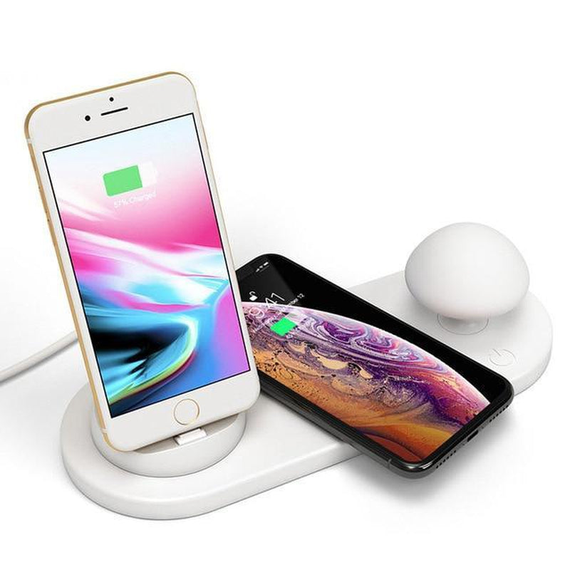 Fast Wireless Charger 3 in 1 Desk Lamp--Bennys Tech Bar