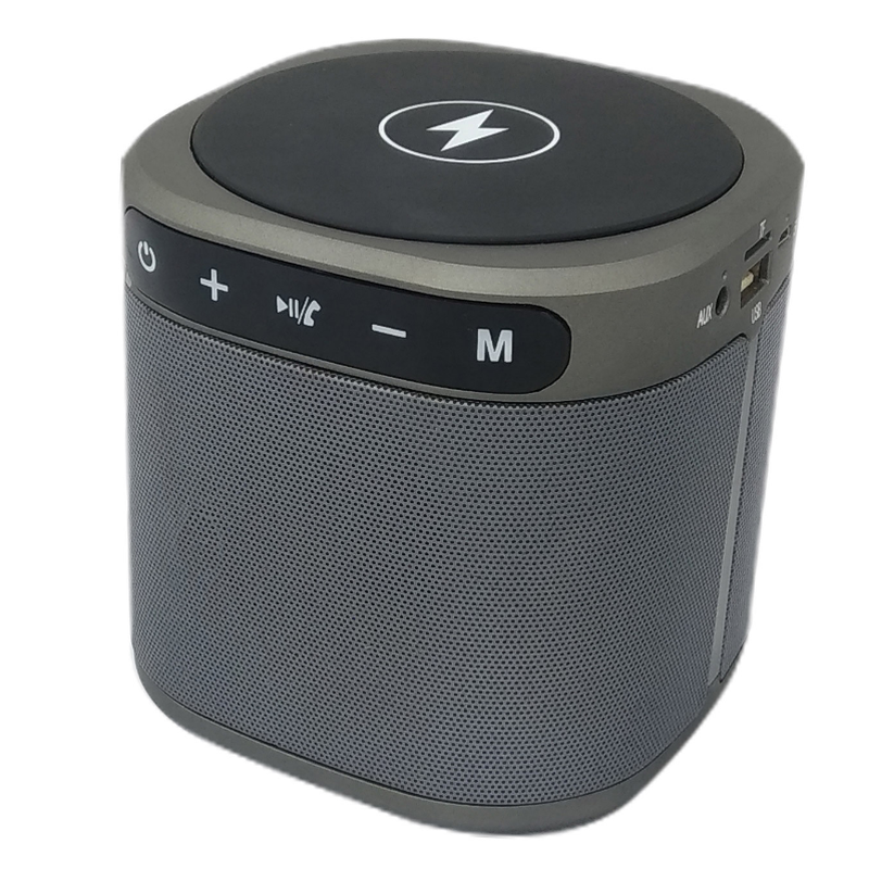 Listen Longer with a Bluetooth Speaker Wireless Charger-Bluetooth Speaker-Dark Grey-Bennys Tech Bar