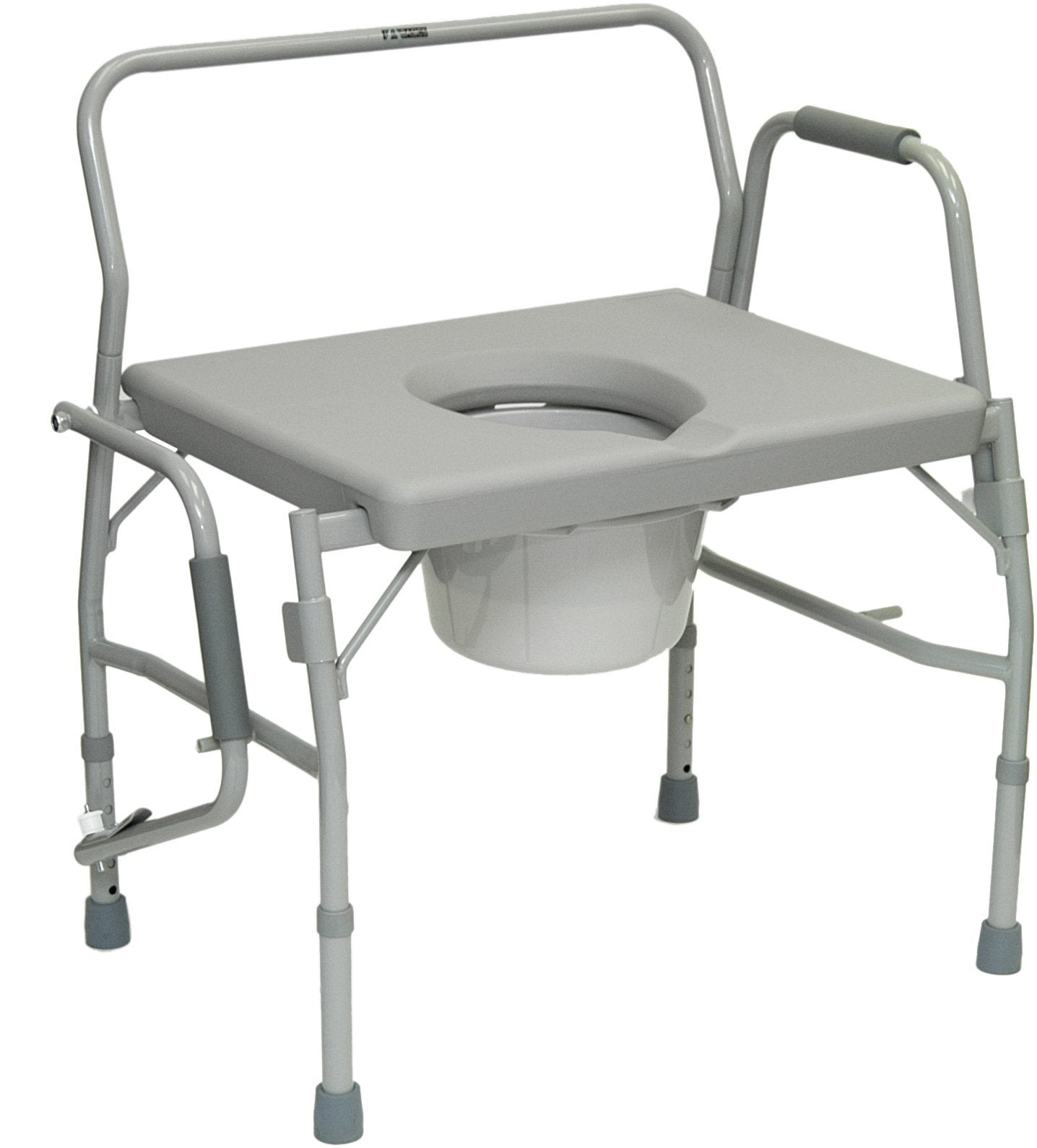 Bariatric Drop Arm Commode, 650lb Weight Capacity - US MED REHAB