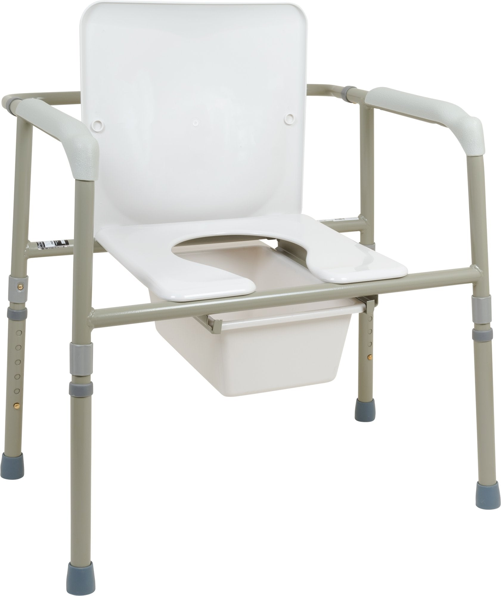 Bariatric Three-in-One Commode, 450lb Weight Capacity - US MED REHAB