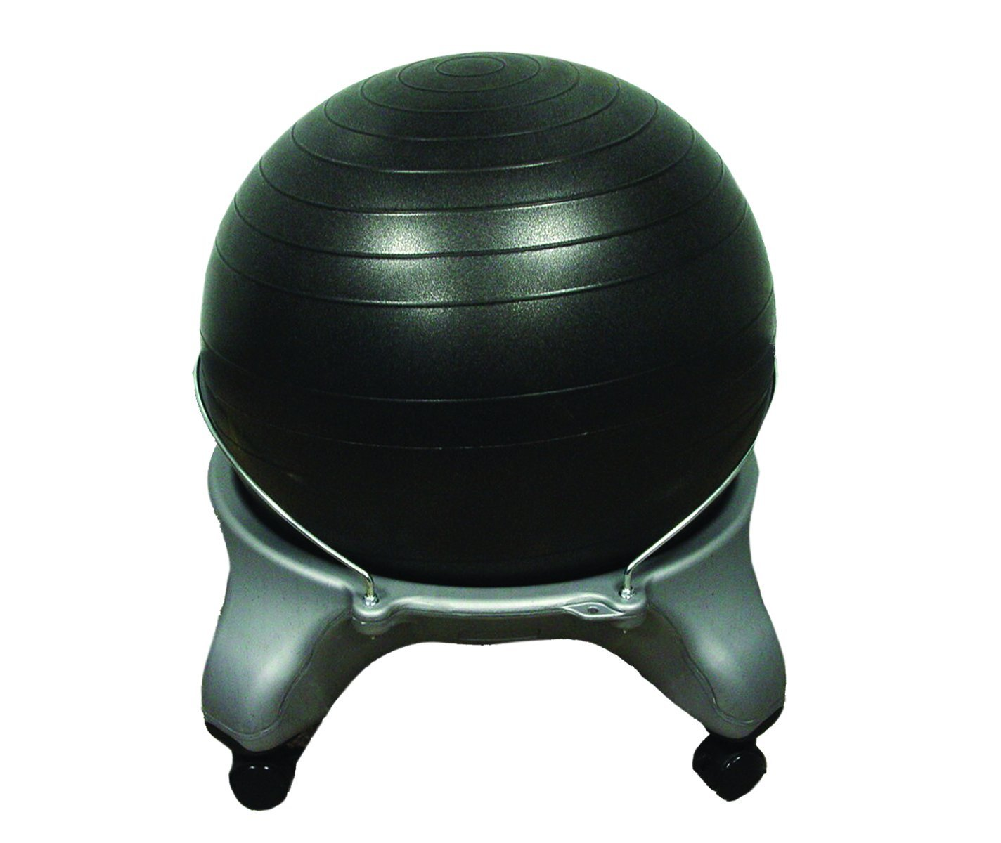 "CanDo® Ball Stool - Plastic - Mobile - No Back - Adult Size - with 20"" Ball - US MED REHAB"