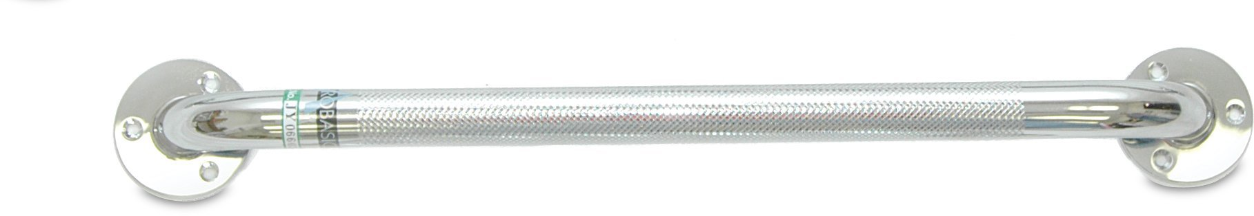 "Chrome Knurled Grab Bar, 16"", 250lb Weight Capacity - US MED REHAB"