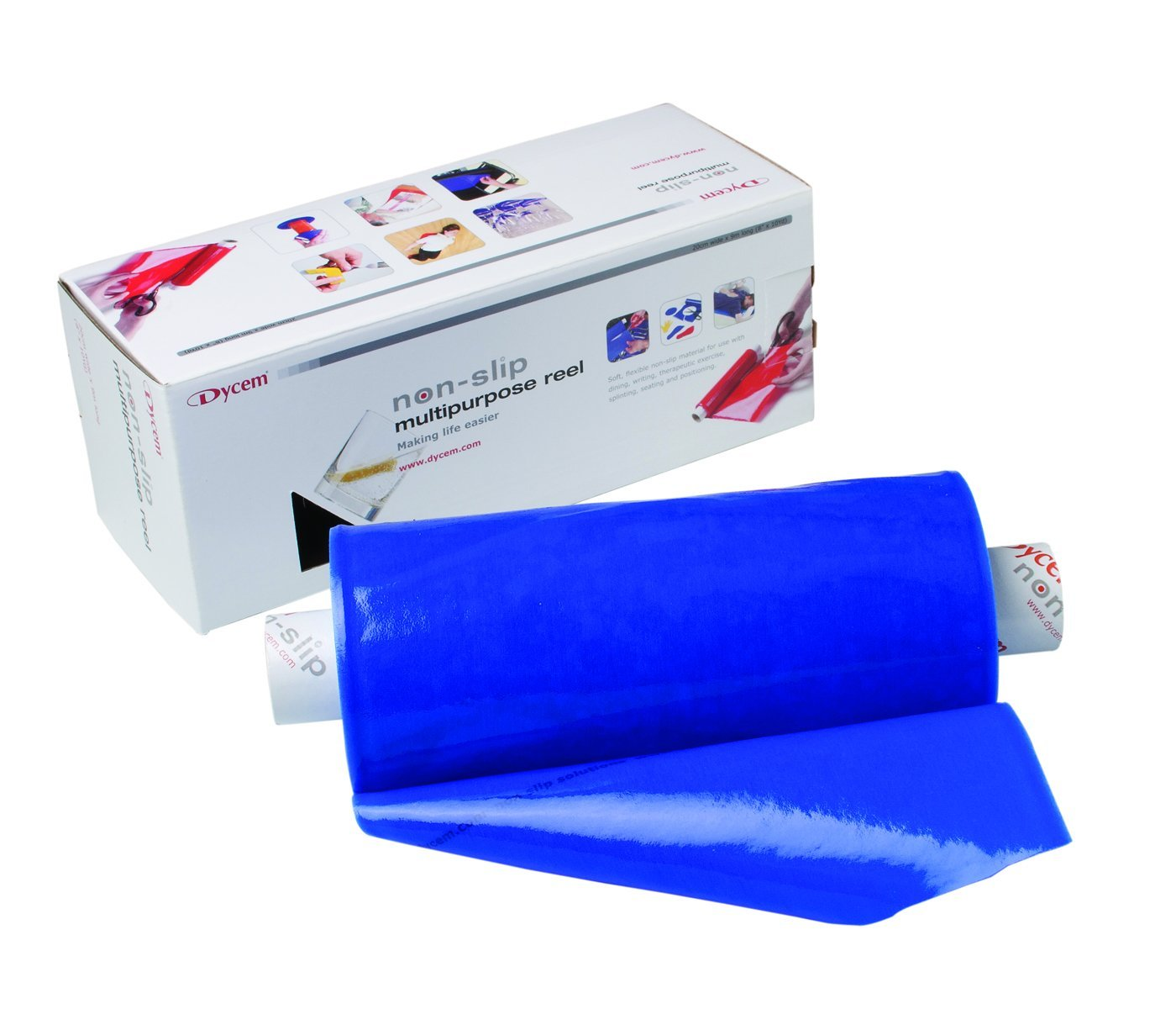 "Dycem® non-slip material, roll, 8""x10 yard, blue - US MED REHAB"