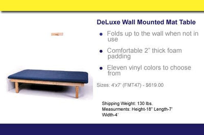 FMT47WM Deluxe Oak Wall Mounted Mat Table - US MED REHAB