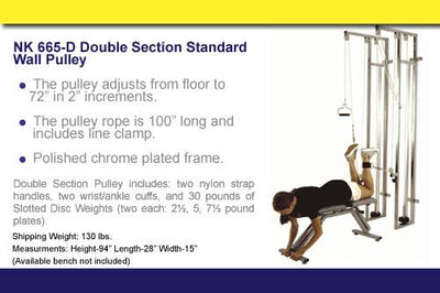 NK-665-D Double section standard wall pulley - US MED REHAB