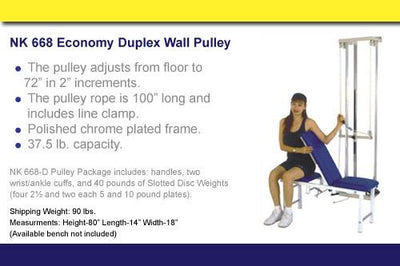 NK668-D Dual Wall Pulley Package - US MED REHAB