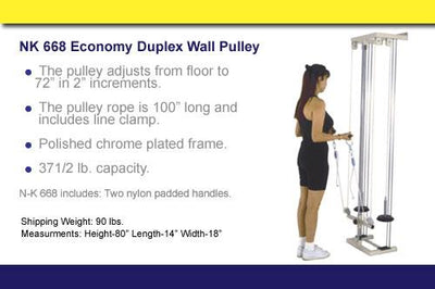 NK668 Dual Wall Pulley - US MED REHAB