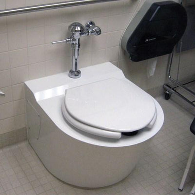 On-Floor, ADA Compliant Ligature Resistant Bariatric Stainless Steel Toilet - US MED REHAB