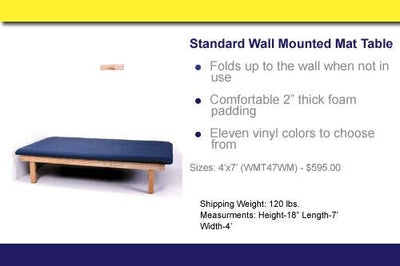 WMT47WM Standard Wall Mounted Mat Table - US MED REHAB