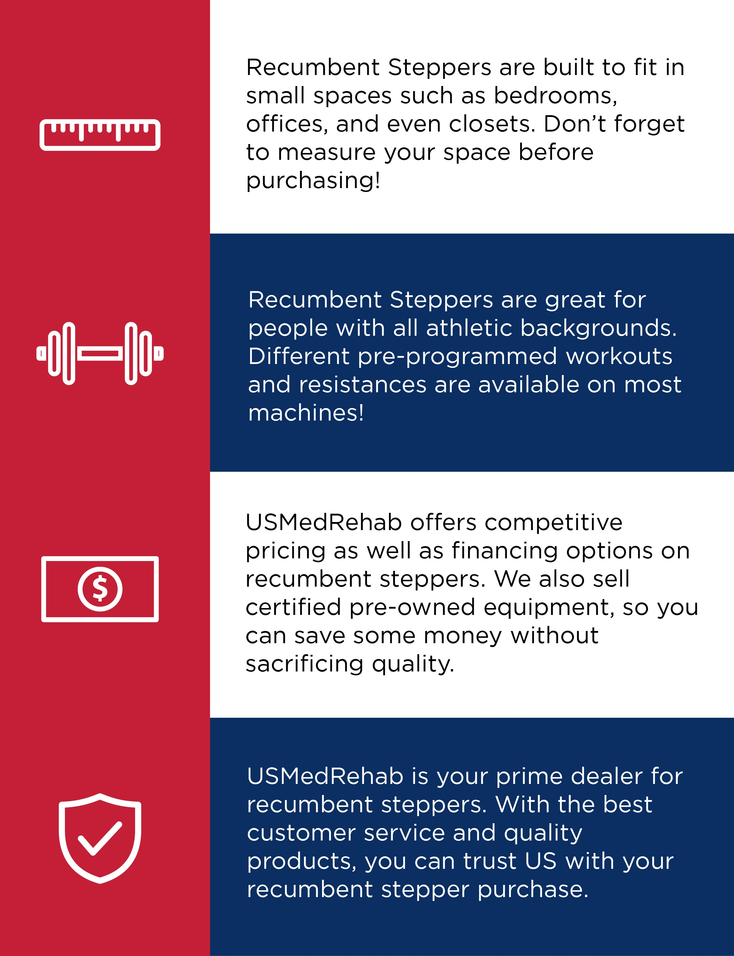 Why should you purchase a recumbent stepper from USMedRehab?