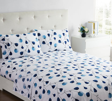 """Blue Poppies"" Amsterdam Exclusive Bed Sheets - Spirit Linen"