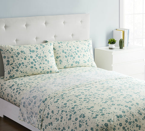 """Blue Wildflowers"" Amsterdam Exclusive Bed Sheets - Spirit Linen"