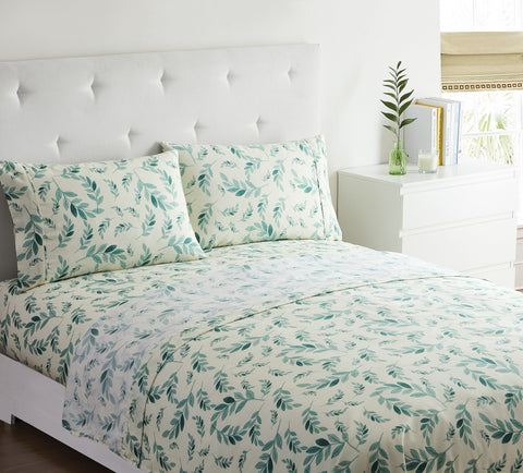 """Green Leaf"" Amsterdam Exclusive Bed Sheets - Spirit Linen"
